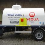 Dvouosý přívěs vč. nástavby pro nouzové zásobování pitnou vodou