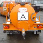 Dvouosý přívěs se sací cisternou CAS 2